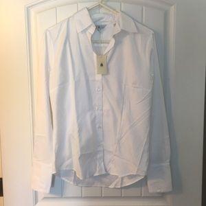 NWT Robert Talbott 100% Cotton White Button Down
